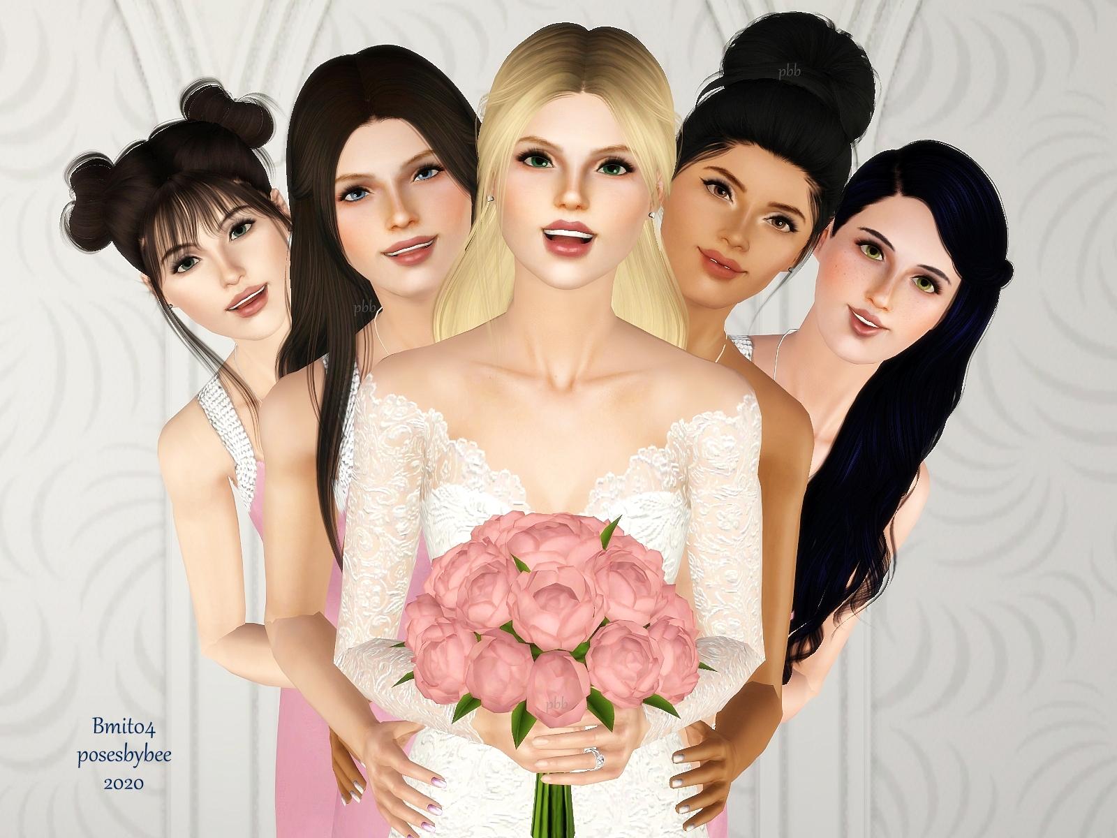 bridal portrait faces